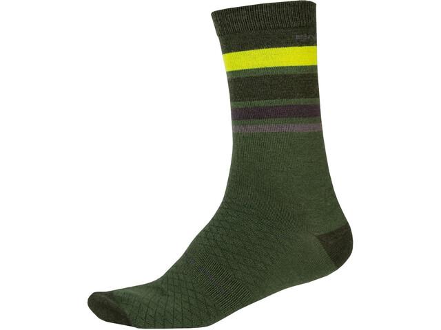 Endura BaaBaa Merino Stripe Socks Men, green